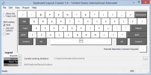 US-International Alternate Shift Keys